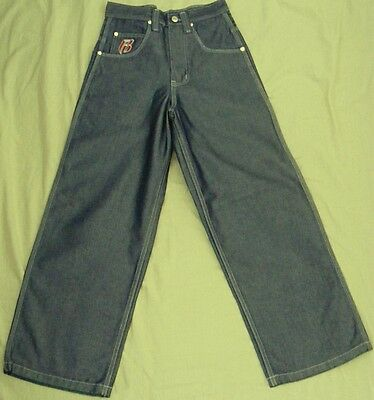 RUFF RYDERS Denim JEANS Platinum blue BAGGY JEANS Fit 25W ~ BOYS sz 6 to 7 NEW!