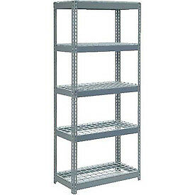 """Extra Heavy Duty Shelving 36""""W x 12""""D x 84""""H With 5 Shelves, Wire Deck"""