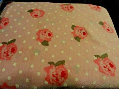 NEW BABY Fitted Crib Sheet PINK Roses~Flowers White Polka Dots Toddler bed soft