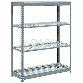 "Heavy Duty Shelving 48""W x 24""D x 72""H With 4 Shelves, Wire Deck"