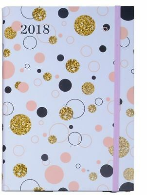 2018 Diary Cumberland Fashion Printed Design with Elastic A5 Week to View 4014-6