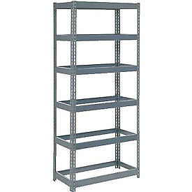 "Extra Heavy Duty Shelving 36""W x 12""D x 72""H With 6 Shelves, No Deck"