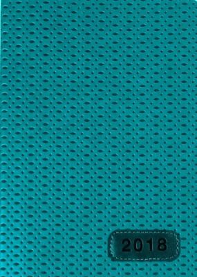 2018 Diary Cumberland Fashion PU Embossed A5 Week to View 4015-1 Teal Woven
