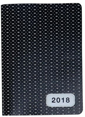 2018 Diary Cumberland Fashion PU Embossed with Elastic A5 Week to View 4015-3
