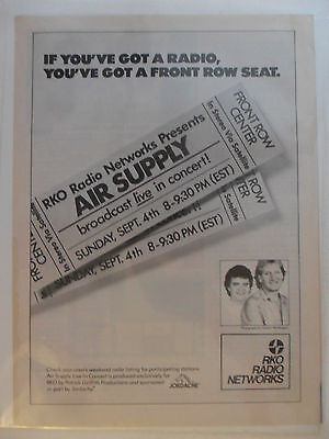 1983 Print Ad RKO Radio Network ~ You've Got a Front Row Seat