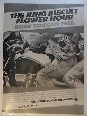 1984 Print Ad ABC Rock Radio Network ~ King Biscuit Flower Hour