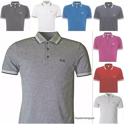 Hugo Boss Short Sleeve Polo T-Shirts Black Blue Red White Purple Grey White Tees