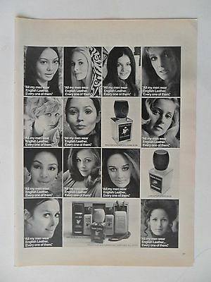 1970 Print Ad English Leather Men's Cologne After Shave Deodorant ~ The Women
