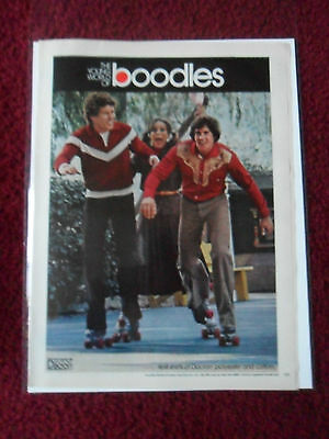 1979 Print Ad BOODLES Clothing & Fashions ~ The Young World Roller Skating