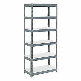 """Extra Heavy Duty Shelving 36""""W x 18""""D x 60""""H With 6 Shelves, 1500 lbs. Capacity"""