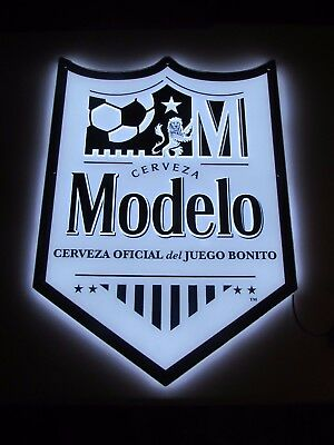 NEW Modelo Especial LED Soccer Beer Sign Man Cave Light Cerveza Del Juego  Bar