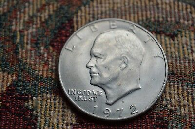 Dated : 1972 - One Dollar / $1 Coin - American / USA - Eisenhower Dollar
