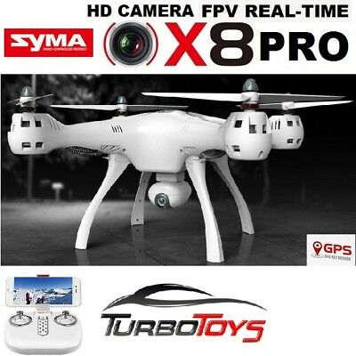 New - Syma X8Pro Gps Wifi Fpv Real Time Xl Outdoor Drone- 1 Key Return Home -Rtr