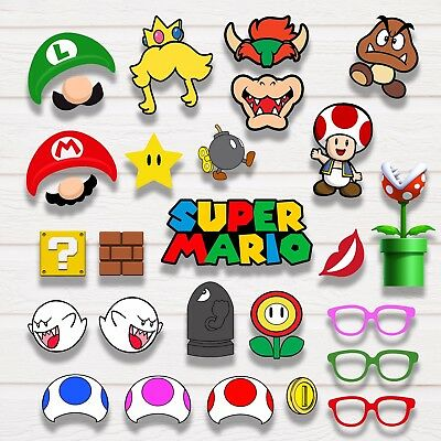 Super Mario Party Props - PDF & JPEG - Printable