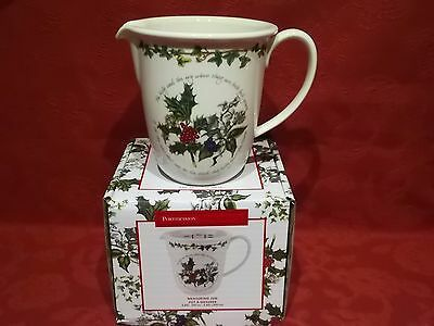 "Portmeirion Holly & Ivy 6"" Measuring Jug New & Boxed"