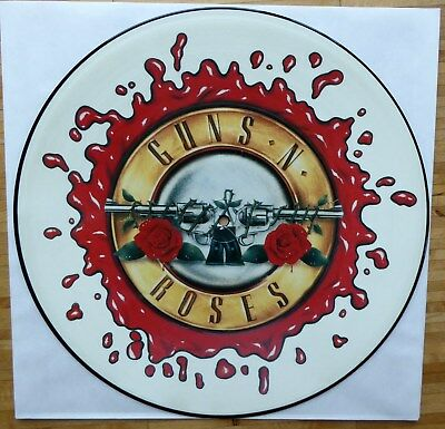 "Original GUNS ' N ROSES Picture LP - 12"" VINYL - RAR - Geffen - LOGO - G'NR"