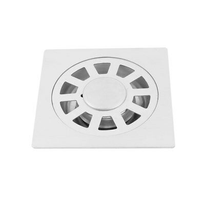 School Dorm Stainless Steel Floor Drain Cover Strainer Hair Stopper Silver Tone