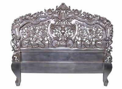 Sale - Bed Head Queen Rococo Hand Carved Silver Leaf SRP $1600