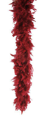 "Star Power Extra Long Fluffy Feather Boa, Burgundy, One Size (72"")"