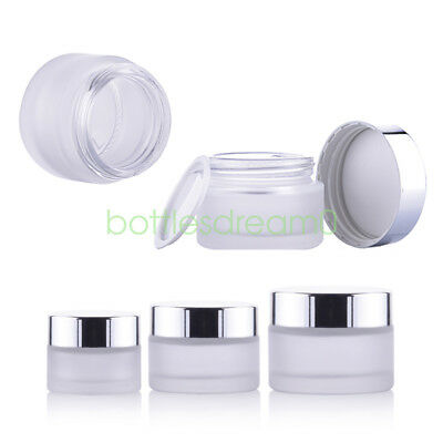 10/20Lot 15g 30g 50g Matte Glass Jars Container Cosmetic Cream Lotion Bottle Pot