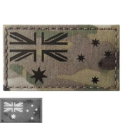 IR Multicam Italia Bandiera Italy Flag 2x3.5 IFF Infrared Tactical Morale Fastener Patch