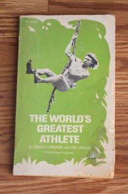 1973 THE WORLDS GREATEST ATHLETE by GARDNER & CARUSO Paperback Book DISNEY