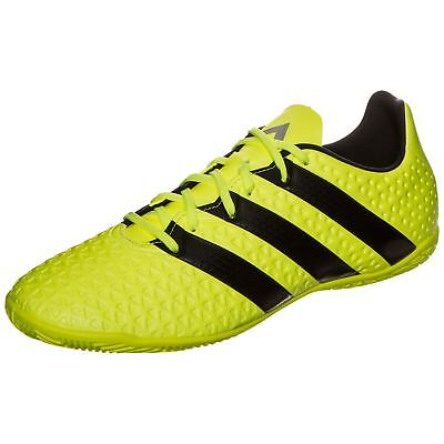 brand new c975d 234a8 adidas Ace 16.4 Indoor Football Shoes Mens Yellow Black Futsal Soccer  Trainers
