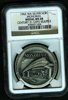 Ngc Ms  68 Century 21 Expo Seattle Wa Monorail Silver Unl  So Called Dollar