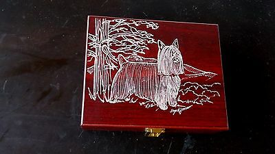 Silky Terrier- Beautifully hand engraved Keepsake Box  by Ingrid Jonsson