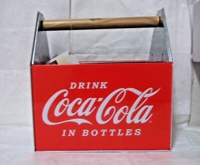 2008 Collectible Coca Cola Tin Utensil Caddy with Tags - New - Fast Shipping!