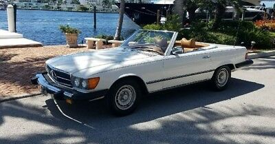 1980 Mercedes-Benz SL-Class 450SL 1980 Mercedes-Benz 450SL 64k Miles  Two Owners  White Over Tan  New Soft Top