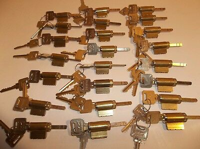 LOT Of 10 Dorma / Schlage SC1 Keyway Lock Cylinders 6-Pin Keyed Different 2 Keys