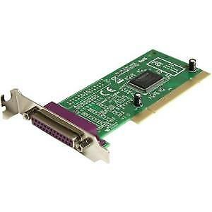 NEW! Startech 1 Port Low Profile Pci Parallel Adapter Card 1 X 25-Pin Db-25 Fema