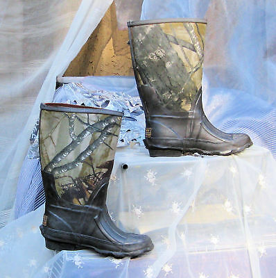 Ozark Trail Kids size 2 Camo Brown Hunting Rubber Winter Hunt Boot boots