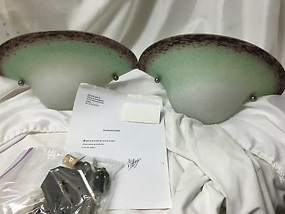 Vintage Original Noverdy Art Deco 1920s Wall Sconces from France Wired for USA