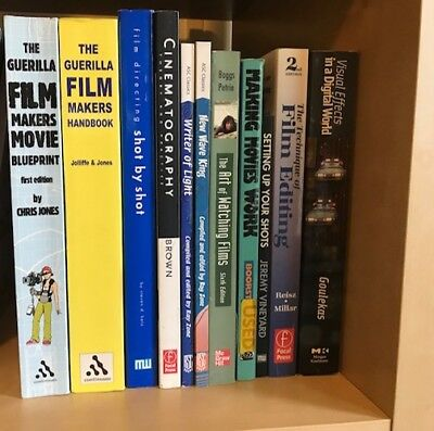 Books on Film - Directing, Editing, Cinematography, VFX, Theory - 11 BOOK LOT