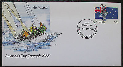 America's Cup Triumph 1983 Pre-Stamped Envelope / PSE - First Day Issue Postmark