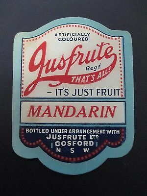 Jusfrute Soft Drink Label (A327)