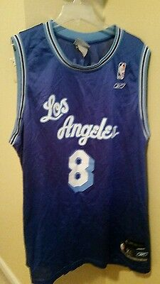 KOBE BRYANT  8 Los Angeles Lakers Classic Throwback Jersey (Blue on ... 2b185e7a6