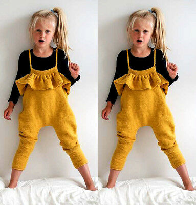 UK Stock Toddler Kids Girl Knit Sweater Bodysuit Romper Jumpsuit Clothes Outfits