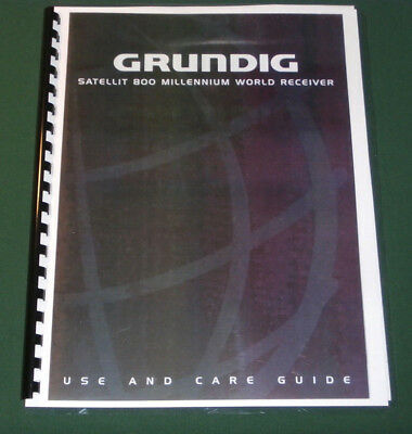 Grundig Satellit 800 Instruction Manual: Comb Bound & Protective Plastic Covers!