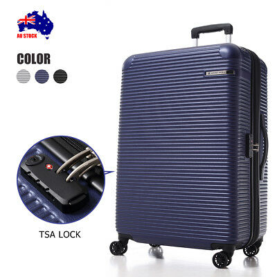 New ABS Luggage  Expandable Spinner Wheels Travel Suitcase TSA Lock Cabin Bag