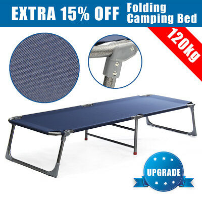 Folding Camping Bed Outdoor Portable Military Cot Sleeping Hiking Travel Bed AU
