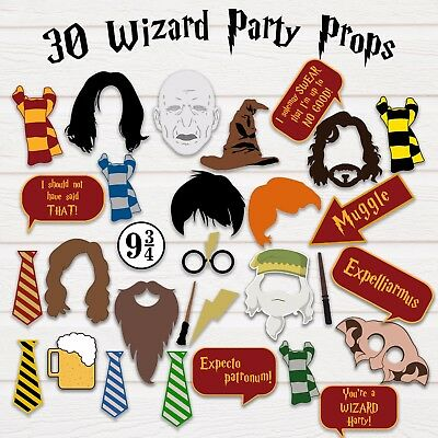Harry Potter Photo Booth Party Props - PDF & JPEG - Printable