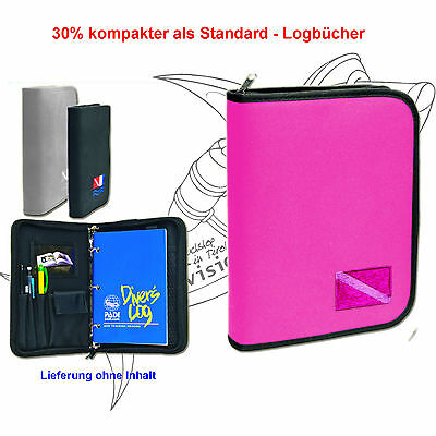 Logbuch Cordura Low Profile - bestickt - 3-Ring für PADI in PINK