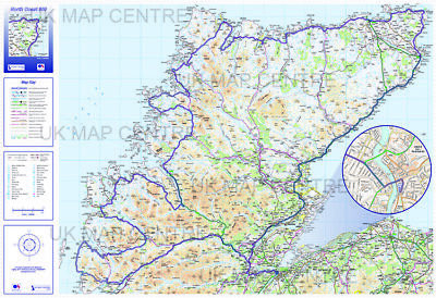 North Coast 500 Route Map - Folded