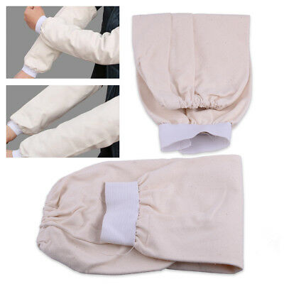 "1Pair 15"" Cotton Fabric Welding Protection Sleeves Arm Protector Flame Resistant"