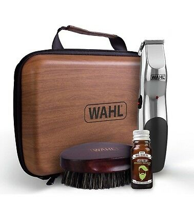 Wahl 9916-802 Beard Care Kit, Rechargeable Trimmer, Beard Oil & Beard Brush