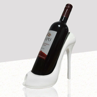 New High Heel Shoe Wine Bottle Holder Stylish Rack Gift Basket Accessories Decor