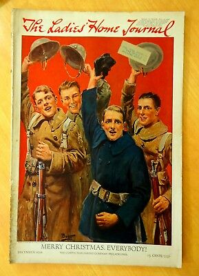 LADIES HOME JOURNAL Magazine December 1918 MAXFIELD PARRISH Ad WWI Poster Stamps